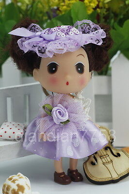 Purple Korea Ddung Dolls Cell Phone Backpack Ornaments Keychain Baby XMAS Girls