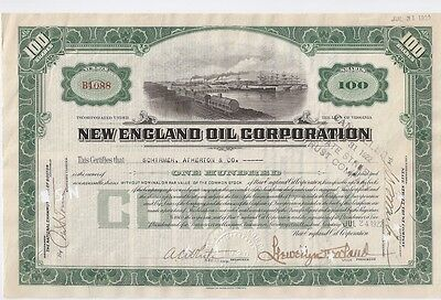 NEW ENGLAND OIL CORPORATION.....1923 STOCK CERTIFICATE