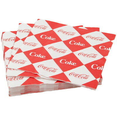Coca-Cola Coke Pattern Paper Cocktail Napkins Vintage Style Party Supplies