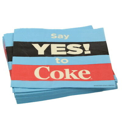 Coca-Cola Yes To Coke Paper Cocktail Napkins Vintage Style Party Supplies