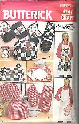 Butterick pattern #4147 Jones new York at Home Kitchen Accessories Uncut 1984