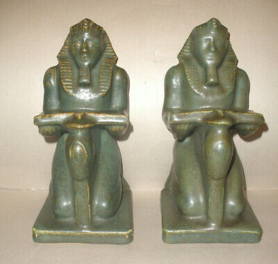 Rare Antique  Fulper pottery Ramses Bookends