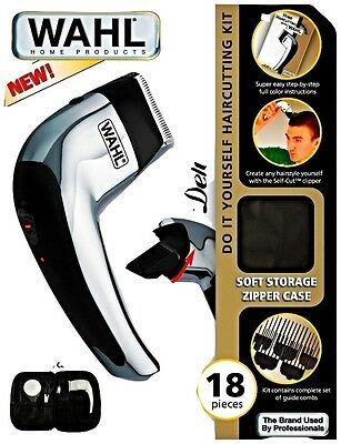 Wahl Deluxe 18 Pc Piece Self Cut Do It Yourself Haircutting Kit 79231 Cordless
