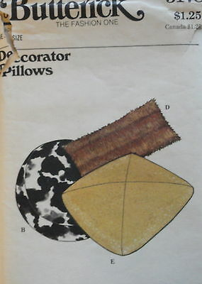 Vintage DECORATOR PILLOWS Pattern Butterick 3178