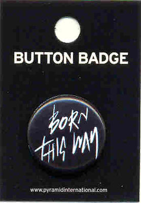 Lady Gaga Born This Way 25mm Button Badge Pin Official Carded