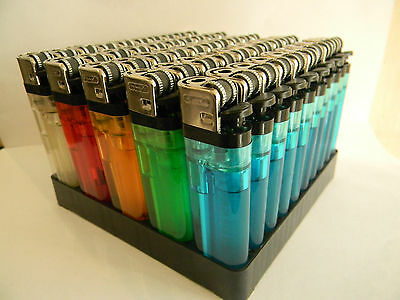 50 disposable lighters adjustable flame child safety multi colours