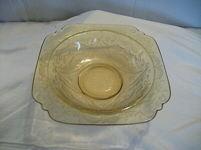 Federal Madrid Amber Glass Soup Bowl