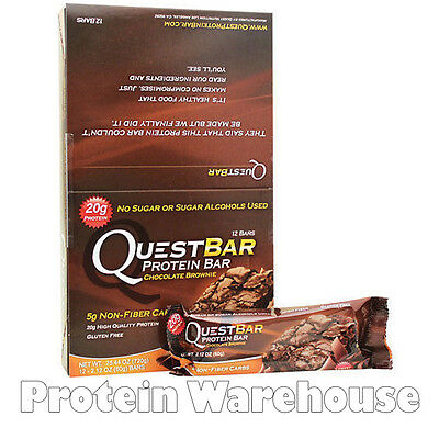 12 X 60g Quest Nutrition Protein Bars High Chocolate Brownie Healthy Whey Bar