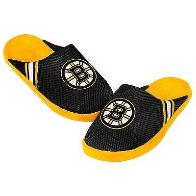 Boston Bruins Jersey Mesh SLIDE SLIPPERS New - FREE SHIPPING - NHL