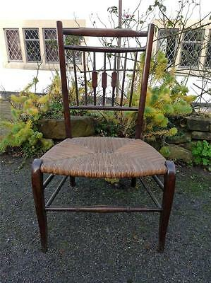 A Very Sweet Antique Edwardian Low Rush Seated Pretty Bedroom/Feature Chair