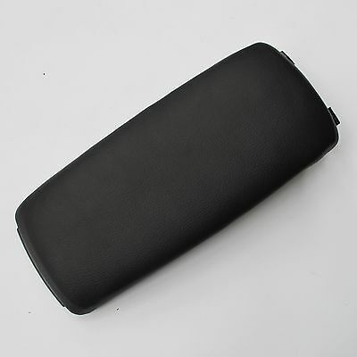 BLACK Leather Armrest Console Box Lid Cover FOR 2000-2006 Audi A4(B6) S4 A6