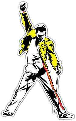 "Freddie Mercury Queen Rock Music Car Bumper Locker Window Sticker Decal 3""X5"""