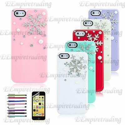 Beautiful Snowflake Case For iPhone SE 4 5 5S Christmas Snowflake Romantic Cover