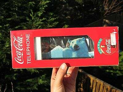 Vintage 1994 COCA-COLA POLAR BEAR TELEPHONE New in the Box.