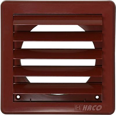 """Air Vent Grille Cover 5 Gravity Flaps 200x200mm (8x8"""") BROWN Ø150mm (6"""") Duct"""