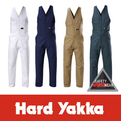 Hard Yakka Tradesman Cotton Drill Action Back Overalls ALL SIZES&COLOURS Y01555