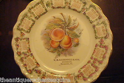 Carnation McNicol 1909 calendar plate with fruits decorations[54]