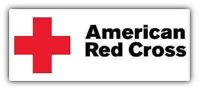 "American Red Cross Car Bumper Window Vinyl Sticker Decal 7""X3"""