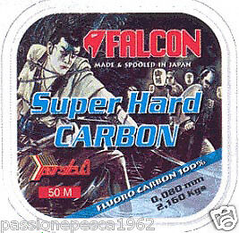 Filo Fluorocarbon Falcon Super Hard Carbon Mt 50/0,159