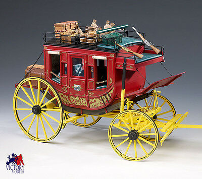 Amati Wild West Stagecoach 10th Scale High Quality Wood & Metal Model Kit