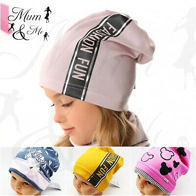 NEW Kids Toddler Girls Hat Baby Cap Striped Beanie Cotton Spring Stretchy Hat