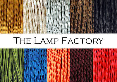 Three Core Twisted Vintage Silk Braided Fabric Cable for Lighting Lamp CORD