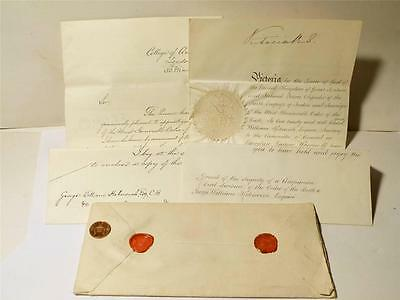 K12 - Queen Victoria SIGNED Royal Warrant 1892 Order of the Bath to G Kekewich