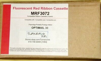 Factory New FP Optimail 30 Compatible Postal Ink Ribbon (3/pack) MRF-3072 w/Chip