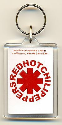 Red Hot Chili Peppers Logo/Band Acrylic Keyring Official