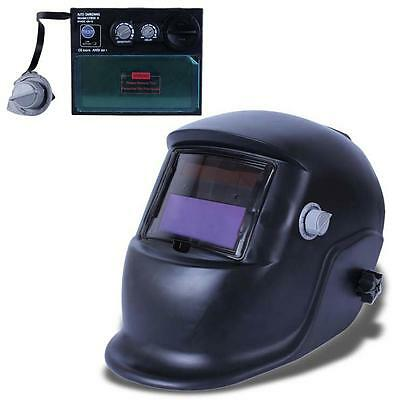 Pro Solar Auto Darkening Welding Helmet Arc Tig Mig Grind Mask Power Tips #O TR