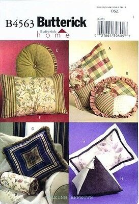 Butterick Sewing Pattern B4563 PILLOWS round square rectangle pyramid 4563 OOP