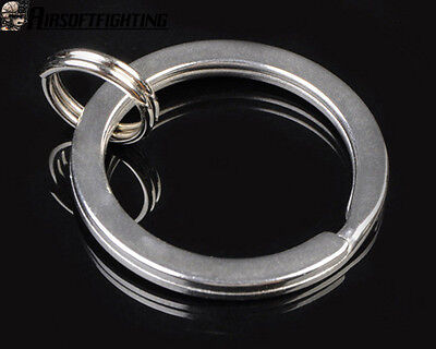 25mm Tactical Stainless Steel Key Ring Chain Outer for SureFire Olight Silver A