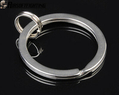 30mm Tactical Stainless Steel Key Ring Chain Outer for UltraFire Fenix Silver A