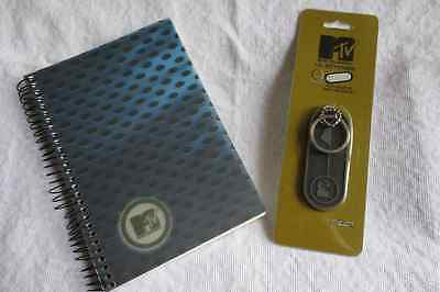 2000/2001 MTV MUSIC TELEVISION COLLECTIBLE KEYCHAIN & NOTEBOOK~VERY RARE~SWEEET!