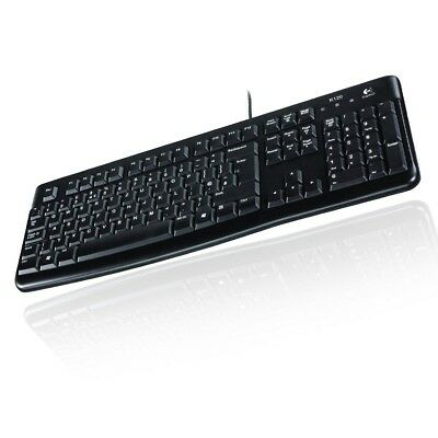 Logitech Keyboard K120 Tastatur Deutsch Oem Usb-Kabel Qwertz Schwarz Pc Notebook