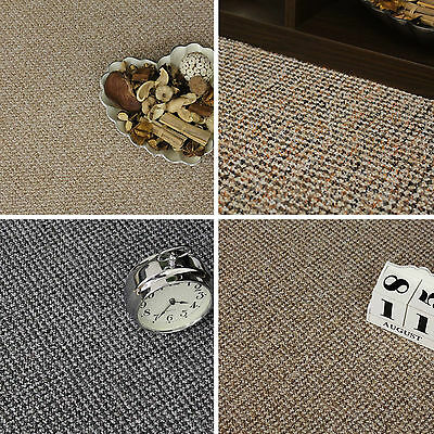 Quality Berber Loop Carpet - Brown Grey Felt Carpets - Cheap Rolls 4 Metre Wide