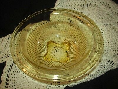 "7"" ROLLED EDGE MIXING BOWL FEDERAL AMBER KITCHEN DEPRESSION GLASS"