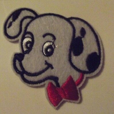 Disney 101 DALMATIONS Puppy Head Iron On Embroidered Patch/ Badge