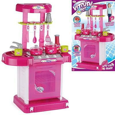Kids Kitchen Play Set New Childrens Role Play Cutlery Activity Toy Indoor Game