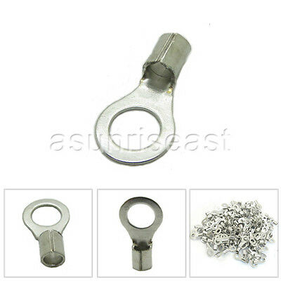 1000 × Non-Insulated 16-14AWG #8 Bolt Ring Crimp Cable Terminals RNB2-4 Naked