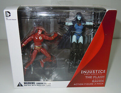 The Flash vs Raven DC Collectibles Injustice Action Figure 2-Pack New Sealed