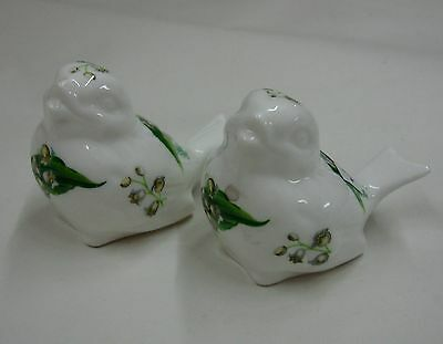 Hammersley LILY OF THE VALLEY Figural Salt Pepper Shaker Set BIRDS