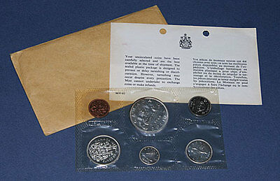 1966 Canadian Mint Uncirculated Coin Set Royal Canadian Mint OGP