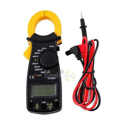 Portable LCD Digital Clamp Ampere AC/DC Ohm Voltage Current Tester Multi Meter