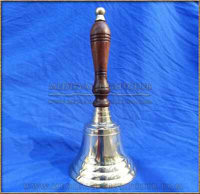 Brass hand bell wooden handle, Quality loud full ring