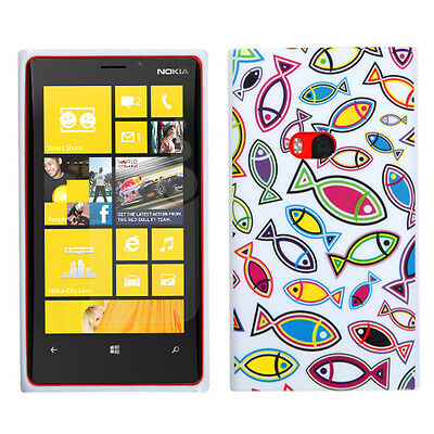 For NOKIA 920(Lumia) Image Printed Soft Skin Case Cover Fish World/White