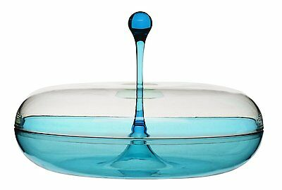 Sagaform Happy Days Acrylic Plastic Serving Dish with Lid - Blue