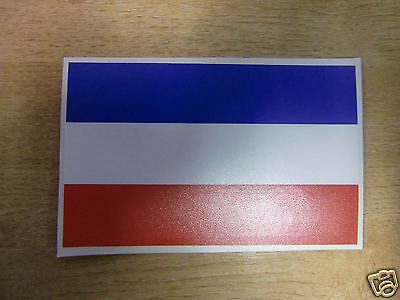 DUTCH FLAG STICKER/DECAL  125mm x 78mm