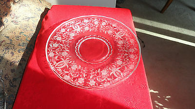"""Vintage Etched 14"""" New Martinsville/Viking Torte Plate in the Prelude Pattern"""