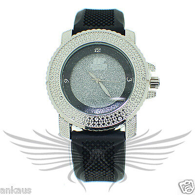 Ladies Iced Out Crystal Accented Stylish Hip Hop Wristwatch by Black Fire WL118